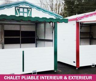 location chalets pliables intérieur & extérieur