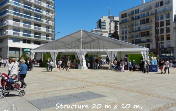 13- Structure (chapiteau) 20mx10m, pignon transparent