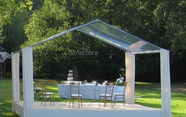 14- Structure (chapiteau) toit transparent sans pignon