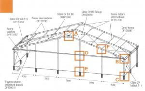 structure barnum chapiteau 25m location evenement priv structura structura location de. Black Bedroom Furniture Sets. Home Design Ideas