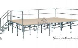 Location option et accessoire : podium Structura