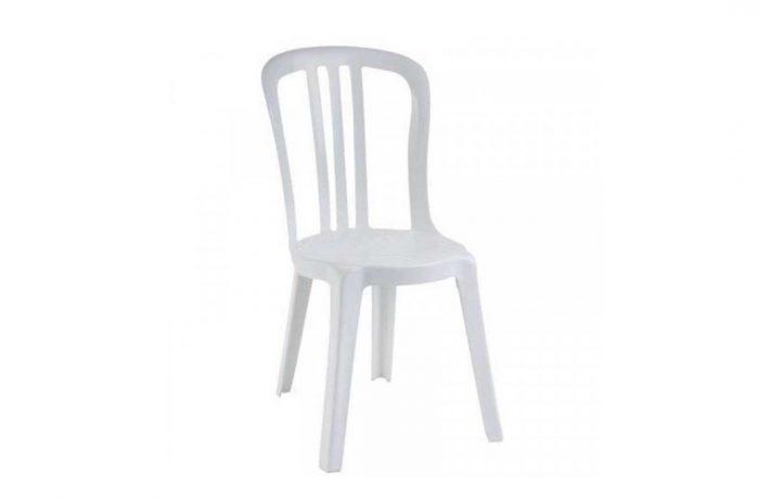 Chaise Miami pvc blanche