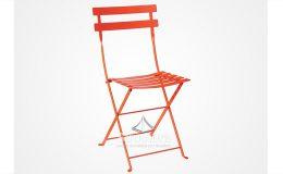 chaise-bistrot-orange