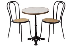 chaise-bistrot-table-ronde
