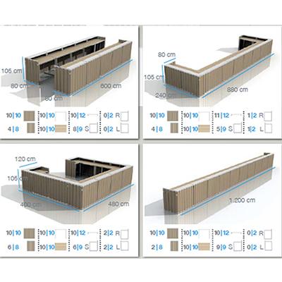 mobiliers modulables structurastructura location de mat riels de r ception. Black Bedroom Furniture Sets. Home Design Ideas