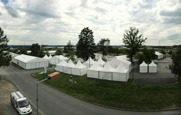 Chapiteau 10mx20m et tentes garden, animation sportive