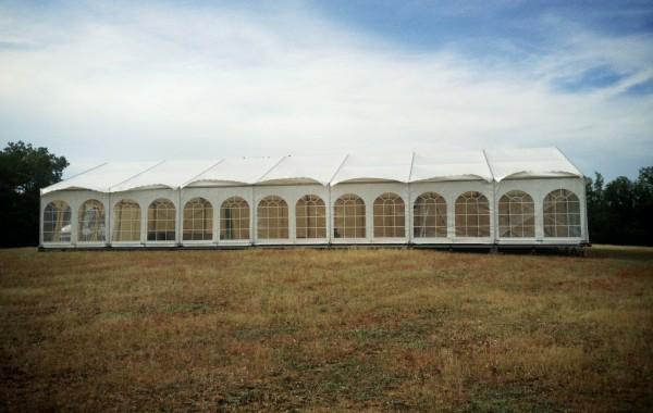 09- Structure (chapiteau) 10mx21m rideaux fenêtre et garden