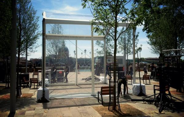 Tente transparente 5mx5m, inauguration événement public