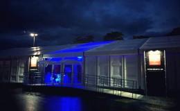 chapiteau tentes pagodes  24hr du Mans Ferrari Structura-1
