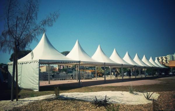 Tentes garden 5mx5m, festival musique electro