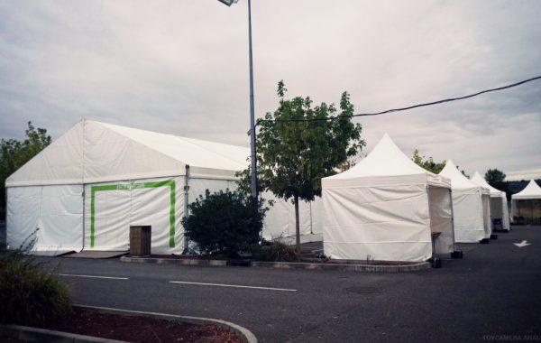 Chapiteau et tentes pour magasin de sport
