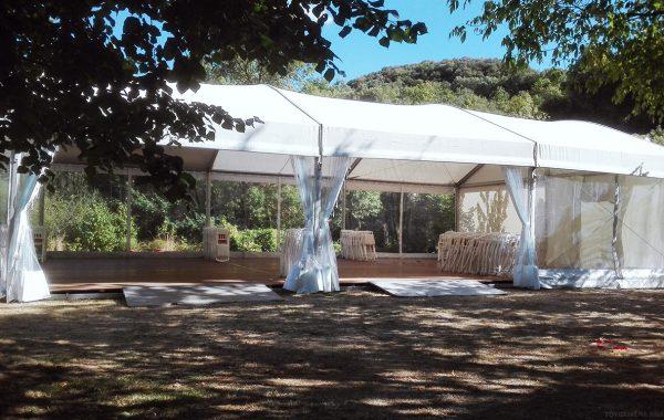 Chapiteau 10mx20m et tentes pagodes 5mx5m, mariage