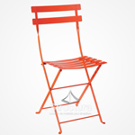 chaise-bistrot-orange 1 - Chaises et tabourets