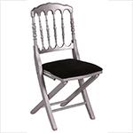 chaise-napoleon-argent-assise-noire 1-1 Chaises