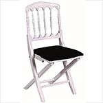chaise-napoleon-blanche-assise-noire 1-1 Chaises