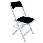 chaise-pliante-assise-velours-noire 1-1 Chaises