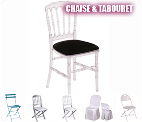 location de matériels de réception chaise et tabouret