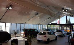 SEAT Labège a choisi Structura pour la structure et les options d'aménagement pour sa concession automobile temporaire