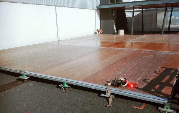 Option   Plancher support pour piscine