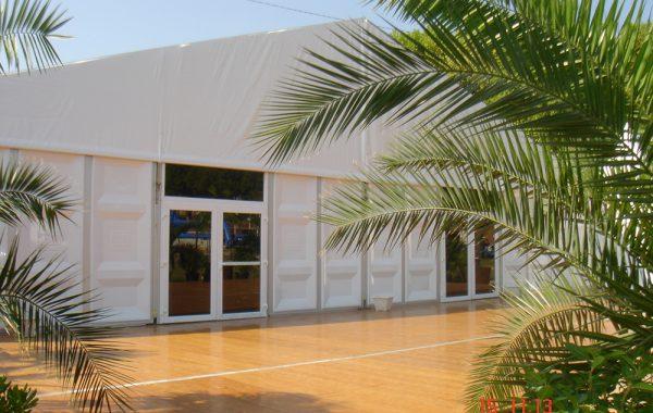 17- Structure (chapiteau), bardage pvc