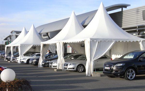 Gardens pour la présentation d'un nouveau véhicule Audi