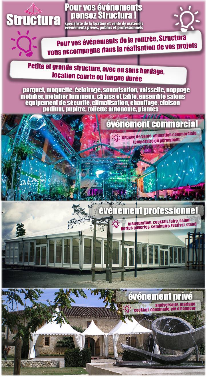 newsletter-structura-09-2017 Préparez vos événements de la rentrée avec Structura !