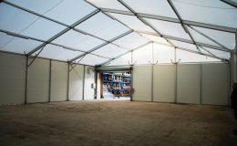 Structura Location batiment de stockage thermo gonflé 15m x 15m H6 interieur