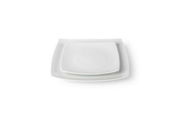 """1-02 Assiette """"Carré Blanche"""""""