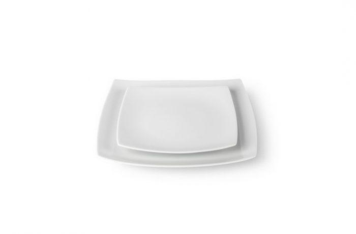 """Assiette """"Carré Blanche"""""""
