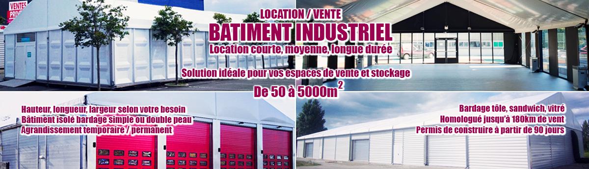 Le bâtiment industriel : solution idéale pour vos espaces de vente et de stockage ! Location courte, moyenne et longue durée.