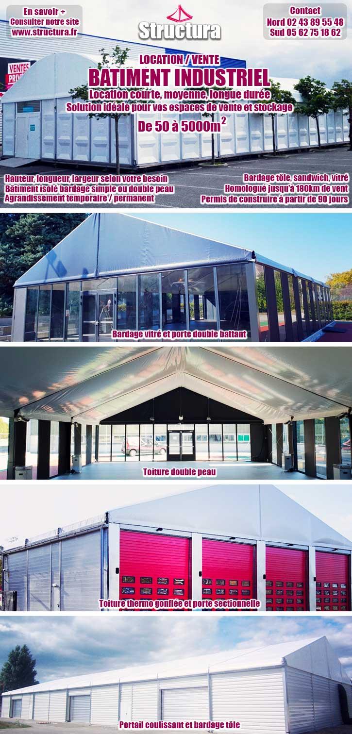 newsletter-batiments-industriels-11-2018 Le bâtiment industriel : solution idéale pour vos espaces de vente et de stockage ! Location courte, moyenne et longue durée.