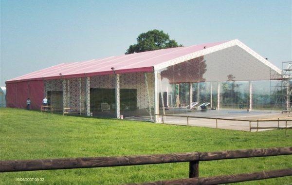13- Structure (chapiteau) 20mx35m entoilage rose et cristal