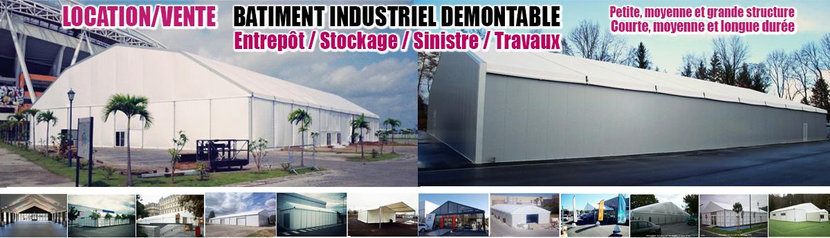 Industriels, équipez-vous en bâtiment industriel démontable, à court, moyen ou long terme.