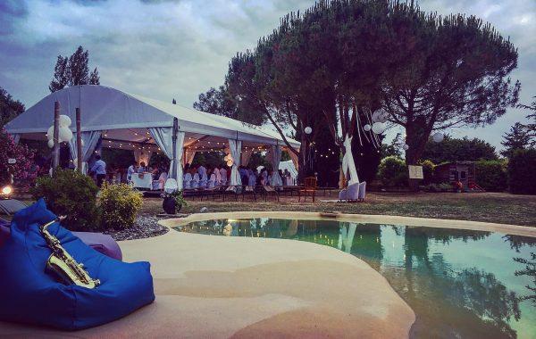 Chapiteau entoilage blanc 10mx15m avec plancher, mariage
