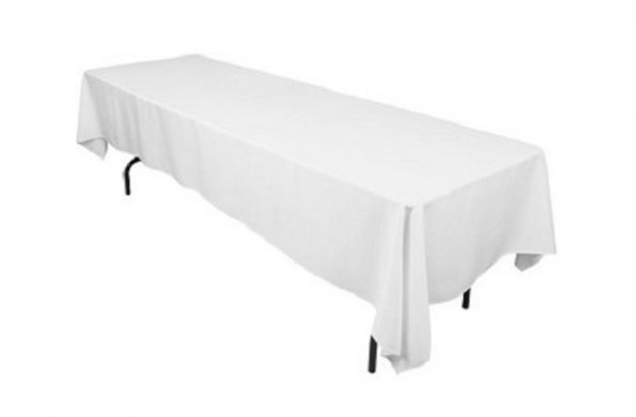 Nappage table rectangulaire blanche