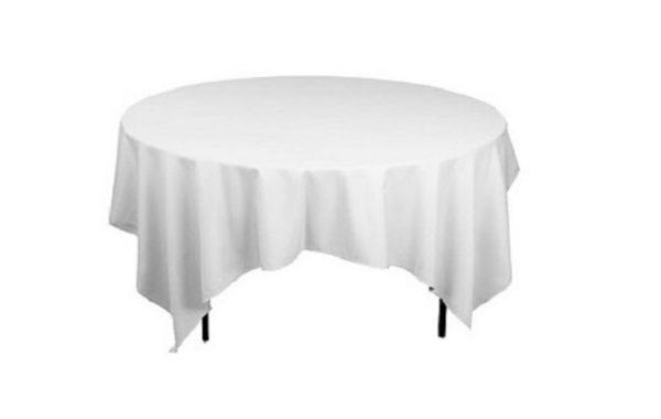 Nappage table ronde blanche libre service