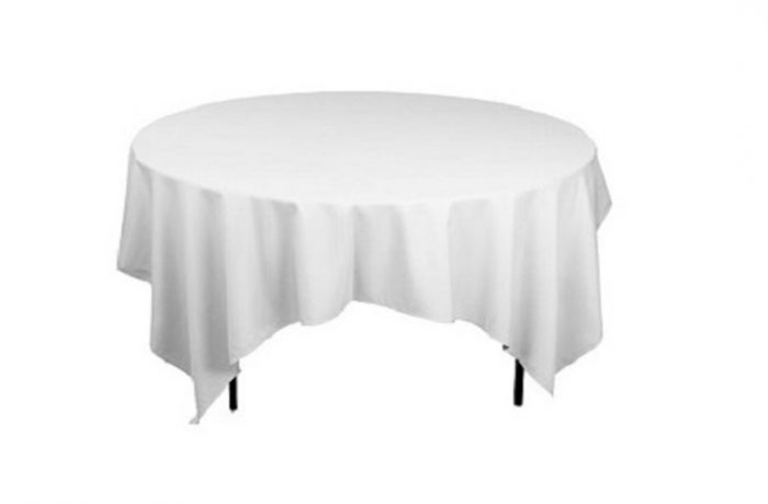 Nappage table ronde blanche