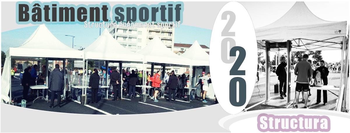 Structura bâtiment et structure événement sportif