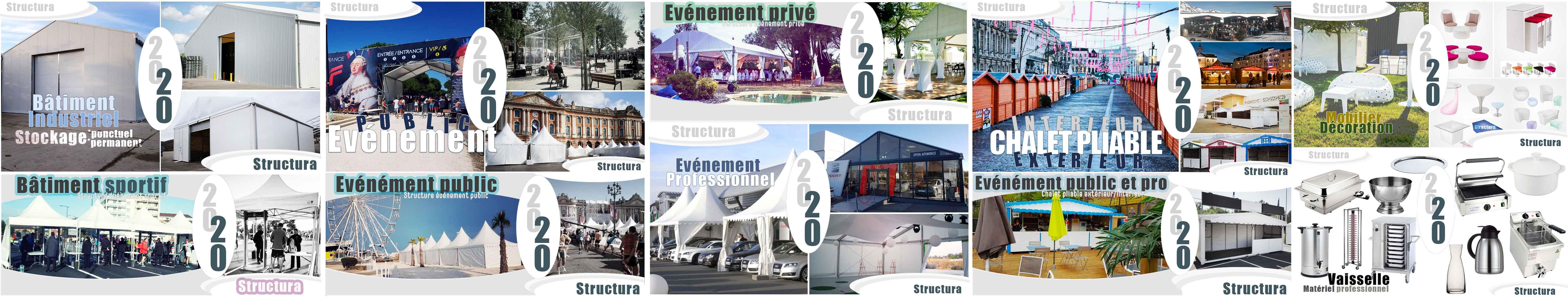 Structura location matériels de réception - matériel événementiel