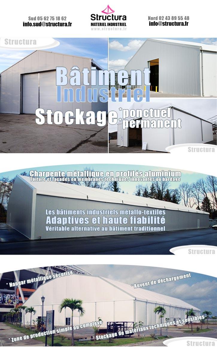 Le bâtiment industriel démontable chez Structura en 2020.