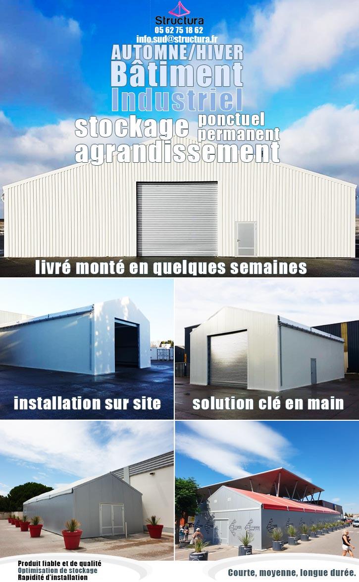 || Le bâtiment industriel démontable| avec|Structura.