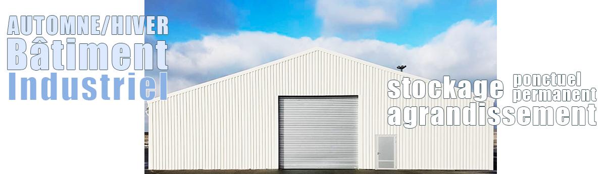 Le bâtiment industriel démontable automne/hiver avec Structura