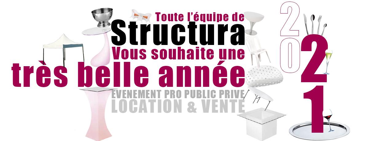 Voeux 2021 Structura location vente matériels de réception