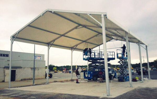 09- Structure stockage permanent (chapiteau) 10mx15m