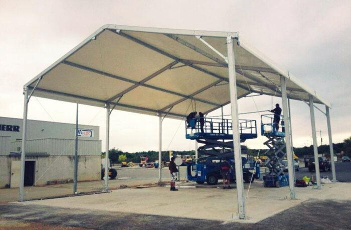 09- Structure stockage permanent (chapiteau) 10mx15m